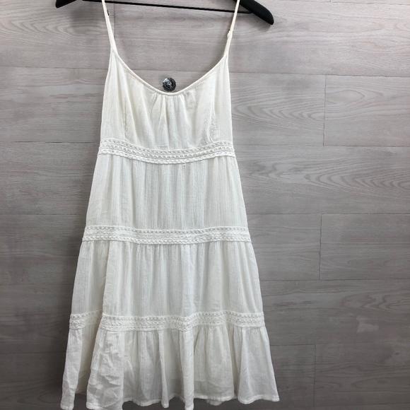 O'Neill Dresses & Skirts - O'Neill White Cotton Dress Size XL Spaghetti Strap